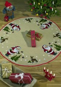 Christmas skirt with Santa, trees and deers