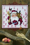 Christmas calendar Santa Claus and reindeer