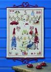 Christmas calendar with elfs