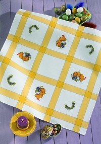 Easter  cloth with chickens