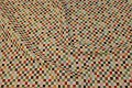 Jacquard-woven furniture fabric with small checks
