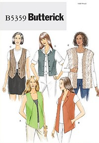 Vests with variations. Butterick 5359.