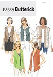 Butterick 5359. Vests with variations.