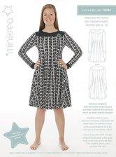 Dress with pleats. Minikrea 70046.