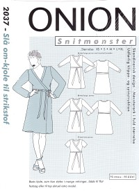 Wrap around dress for knitted fabric. Onion 2037.