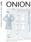 Onion 2037. Wrap around dress for knitted fabric.