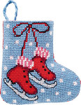 Permin 01-9210. Ice skates christmas stocking.