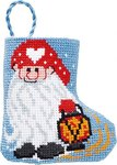 Permin 01-9211. Elf christmas stocking.