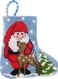 Santa claus christmas stocking. Permin 01-9212.