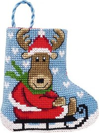 Elg and kælk christmas stocking. Permin 01-9213.