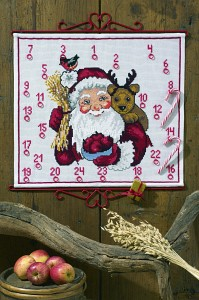 Christmas calendar Santa Claus and reindeer. Permin 34-0264.