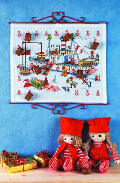 Christmas gift calendar - Steam boat