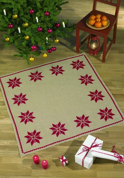 Christmas skirt with stylish star pattern