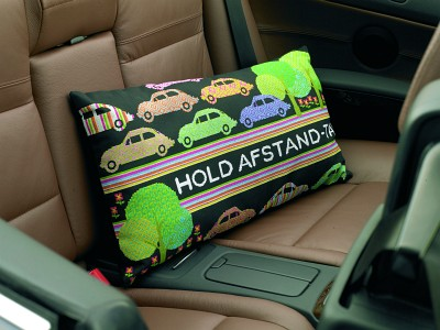 Car pillow with cute embroidery