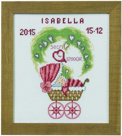 Child birth wall embroidery in red colors