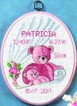 Permin 92-0901. Baby birth embroidery.