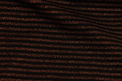 Across-striped rib-fabric in black and cobber