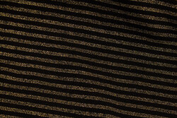 Across-striped rib-fabric in black and gold