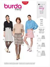 Skirt  – Slightly flared – Stretch waistband. Burda 6154.