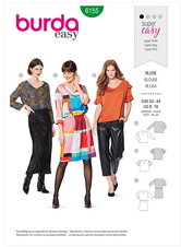Blouse and Dress – V-neckline. Burda 6155.