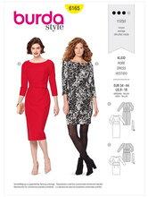 Dress  – Figure-fitting. Burda 6165.