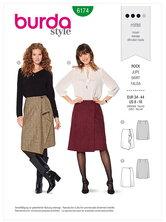 Wrap skirt – Flared. Burda 6174.
