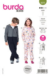Childrens Hooded Jumpsuit and Onesize. Burda 9275.