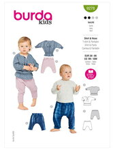 Babies Top and Trousers or Pants. Burda 9278.