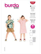 T-shirt and dress. Burda 9282.