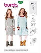 Dress with round neck and pockets. Burda 9286.