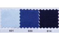 Colored thick cotton in light blue, cobolt-blue, dark blue