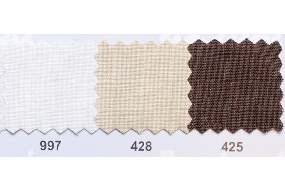 Colored thick cotton in white, beige and brown