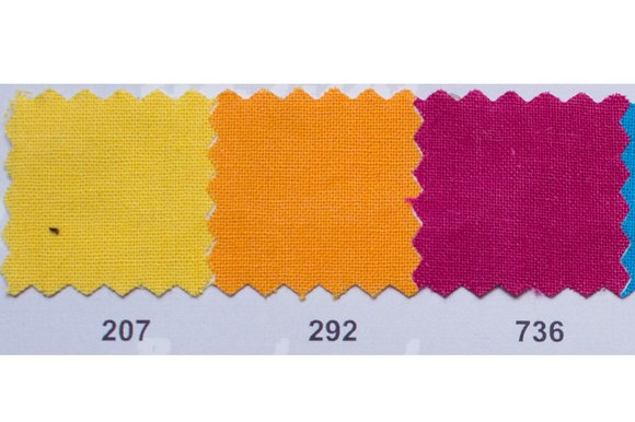 Colored thick cotton in yellow, orange, heather