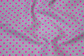 Grey cotton with 5 mm pink dots