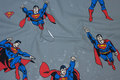 Grey cotton with Superman.
