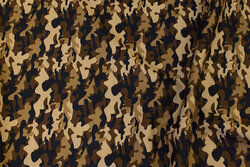 Light cotton with camouflage-pattern in brown nuances