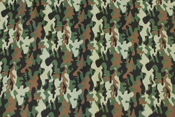 Light cotton with camouflage-pattern in green nuances