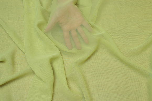 Lime-green chiffon, some transparency