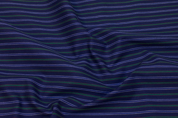 Navy and green, light cotton with milkboy-stripes