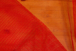 Red net-fabric
