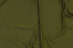 Soft bamboo-jersey in olive-green