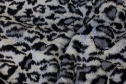 Supersoft fake-fur-fabric in grey nuances