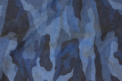 Camouflage sweatshirt fabric in dusty blue nuances