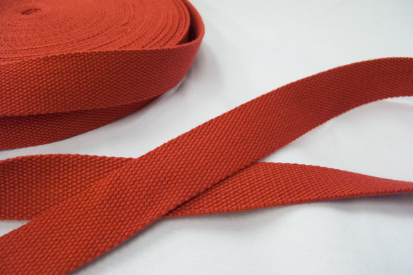 Strap cotton 3 cm red