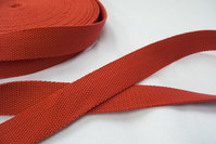 Strap cotton 3 cm red.