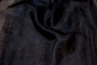 Transparent black organza