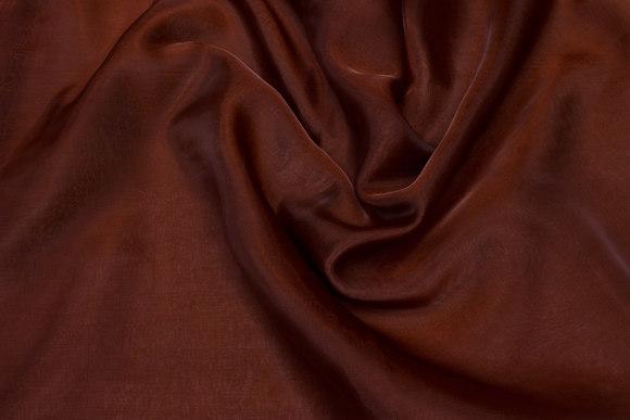 Transparent brown organza