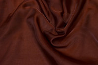Transparent brown organza