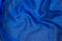Transparent cobolt-blue organza