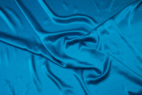 Turqoise-green, gorgeous sandwashed pure silk